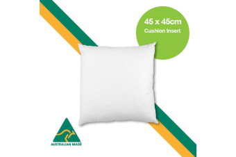 Aus Made 45 x 45cm Cushion Insert Polyester Premium Lofty Fibre