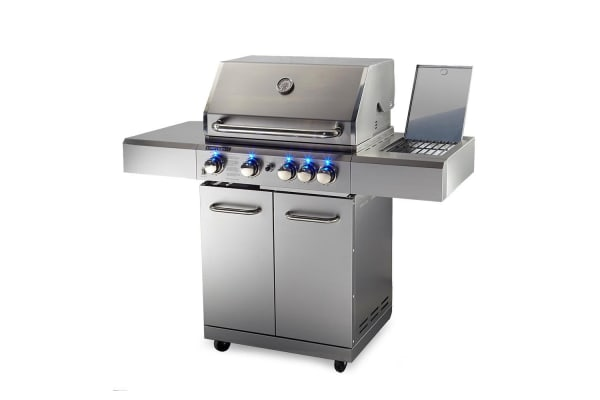 NEW EuroGrille 5 Burner BBQ Outdoor Barbeque Grill Gas Stainless Steel Kitchen