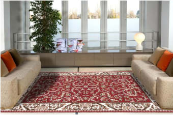 Classic Pattern Rug Red
