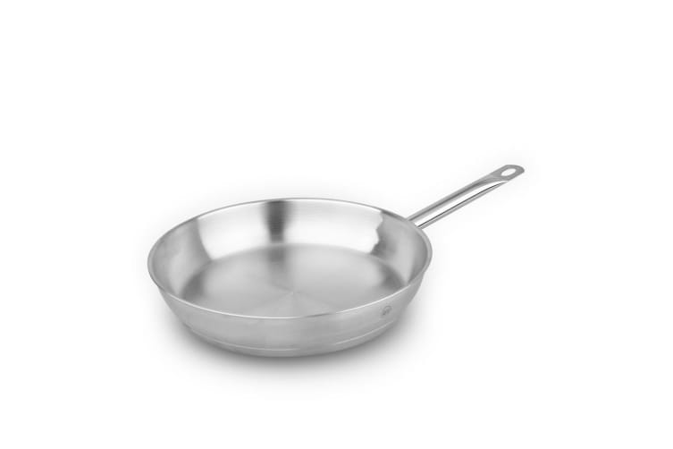 Pro-X 28cm Stainless Steel Frypan Frying Pan Skillet Dishwasher Oven Safe