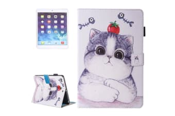 For iPad 2018 2017 9.7in Wallet Case Tomato Cat Stylish Protective Leather Cover