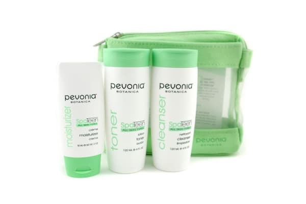 Pevonia Botanica SpaTeen All Skin Types Kit: Cleanser 120ml + Toner 120ml + Moisturizer 50ml (3pcs+1bag)