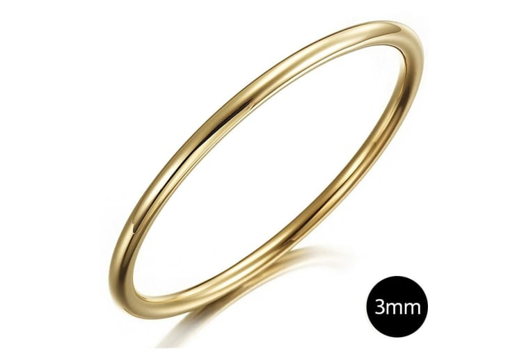 Solid Golf Bangle 3mm Gold Layered-Gold