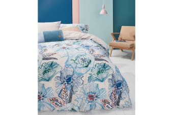 Rose Dust Blue Green Cotton Sateen Quilt Cover Set by Oilily