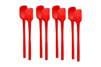 8pc Tovolo Flex-Core Silicone Mini Spatula Spoonula Cooking Utensils Candy Apple