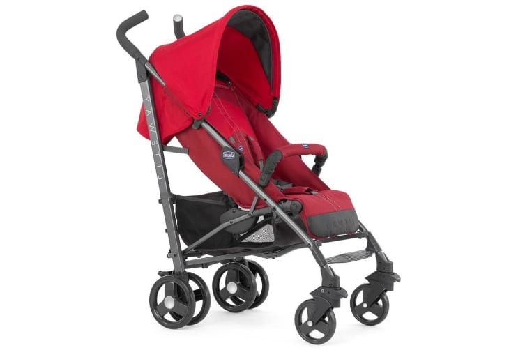 Chicco Liteway 2 Compact Travel Stroller/Pram Adjustable Baby/Infant 0-36m Red