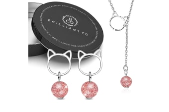 Boxed Kitty Candy Necklace and Earrings Set