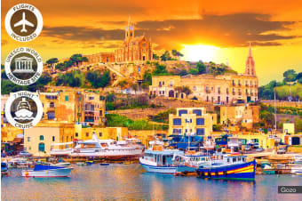 MALTA & GREECE: 17 Day Malta Tour & Greek Island Cruise Including Flights for Two