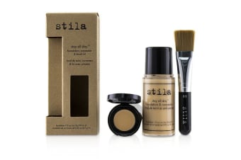 Stila Stay All Day Foundation, Concealer & Brush Kit - # 2 Fair 2pcs