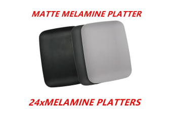 24 x Matte Melamine Serving Platter Trays 30x23cm Catering Kitchen Party Dinner