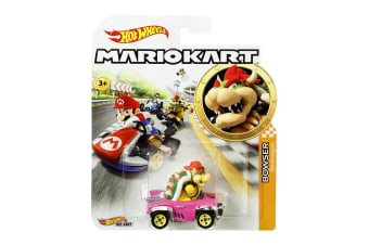 Hot Wheels Mario Kart Bowser Bandwagon Diecast Car