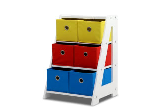 Removable Fabric 6-bin Toy Box