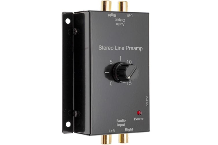 PRO2-1327 Preamp Stereo Audio Line In/pre-amp/Pre amplifier Gain Control  0-15dB