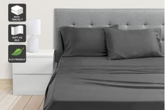 Ovela 100% Tencel™ Bed Sheet Set (Charcoal)