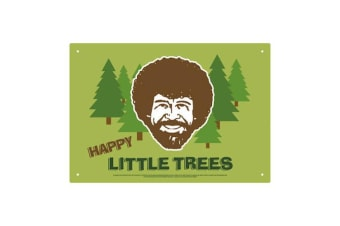 Bob Ross Little Trees Tin Sign