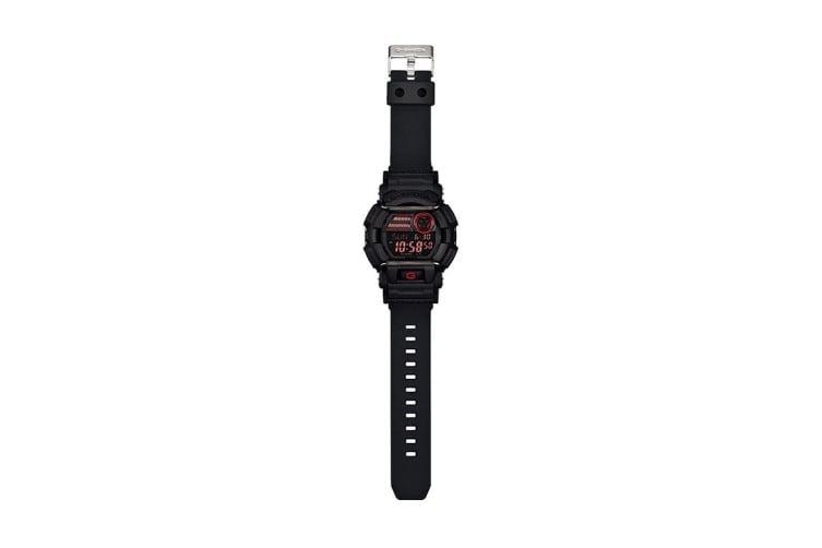 Casio G-Shock Analog Digital Watch with Resin Band - Black/Red (GD400-1D)