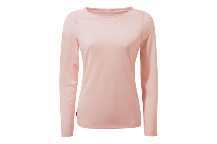 Craghoppers Womens/Ladies NosiLife Erin II Long Sleeved Top (Seashell Pink) (20 UK)
