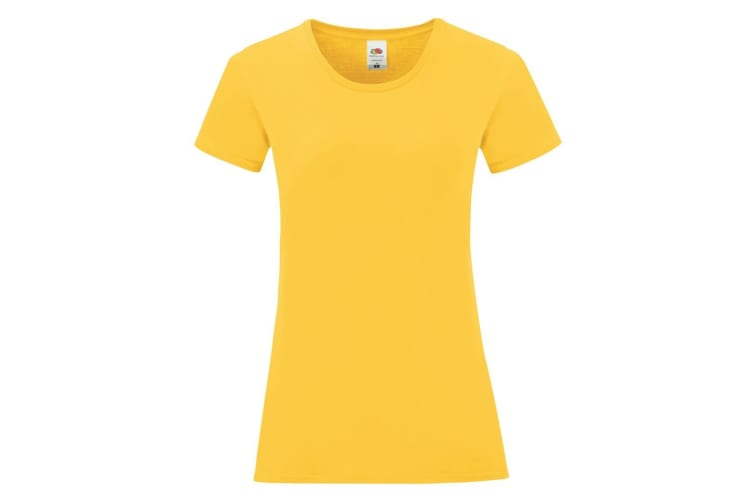 Fruit Of The Loom Womens/Ladies Iconic T-Shirt (Sunflower Yellow) (M)