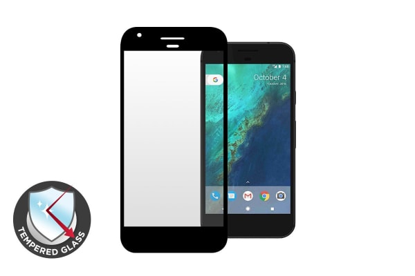 Premium Tempered Glass Screen Protector for Google Pixel XL (Black)