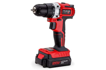 NEW Baumr-AG 20V Lithium Cordless Power Drill Electric Drilling Screwdriver Tool