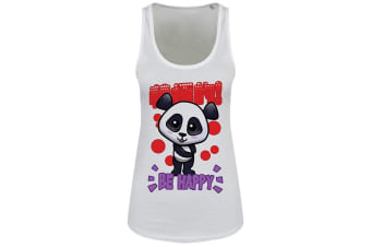 Handa Panda Ladies/Womens Be Happy Floaty Tank (White)