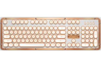 Azio RETRO CLASSIC BT Vintage Typewriter Bluetooth & USB Backlit Mechanical
