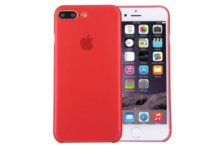 For iPhone 8 PLUS 7 PLUS Case Elegant Ultra-thin Super-light Durable Cover Red