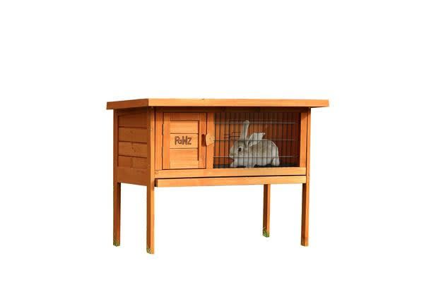 Dick Smith Slide Out Wooden Rabbit Hutch Chicken Coop Guinea Pig