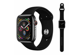 Apple Watch iWatch Series 1 2 3 4 5 Silicone Replacement Strap Band 38mm/40mm S/M size-Black