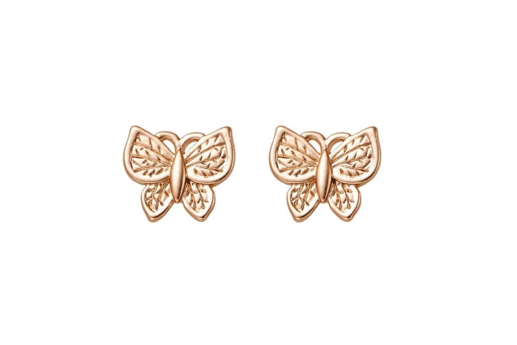 Intrigue Womens/Ladies Small Butterfly Studs (Gold) (One Size)