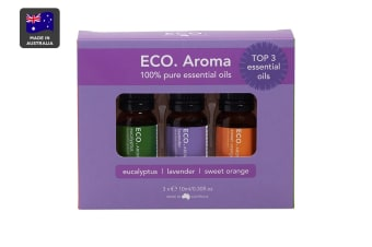 ECO. Aroma Essential Oil Trio (Lavender, Eucalyptus & Sweet Orange)