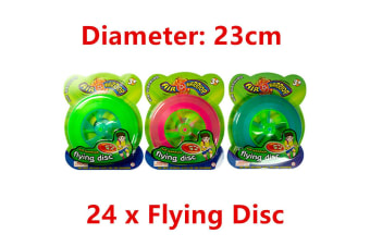 24 x Air Warrior Flying Disc Frisbee 23CM Sports Swimming Pool Beach Game Outdoor