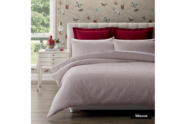 Wedding Ring Mauve Quit Cover Set by Phase 2 SINGLE