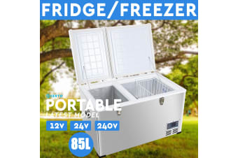 NEW! 85L Portable Freezer Fridge 12V/24V/240V Camping Car Boat Caravan Cooler