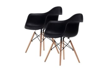 Replica Eames DAW Armchair - BLACK X2