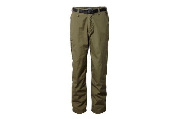 Craghoppers Outdoor Classic Mens Kiwi Stain Resistant Trousers (Dark Moss) (32S)