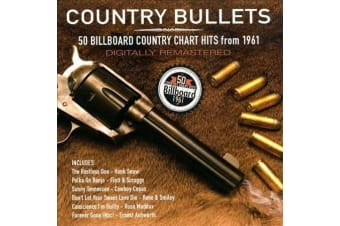 Country Bullets [Remastered] 50 country Hits (2012, 2 Discs) MUSIC CD NEW SEALED