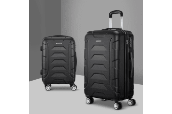 2pc Carry On Luggage Sets Suitcase TSA Travel Hard Case Lightweight