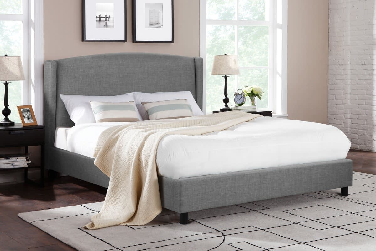 Shangri-La Bed Frame - Levanzo Collection (Grey, Queen)