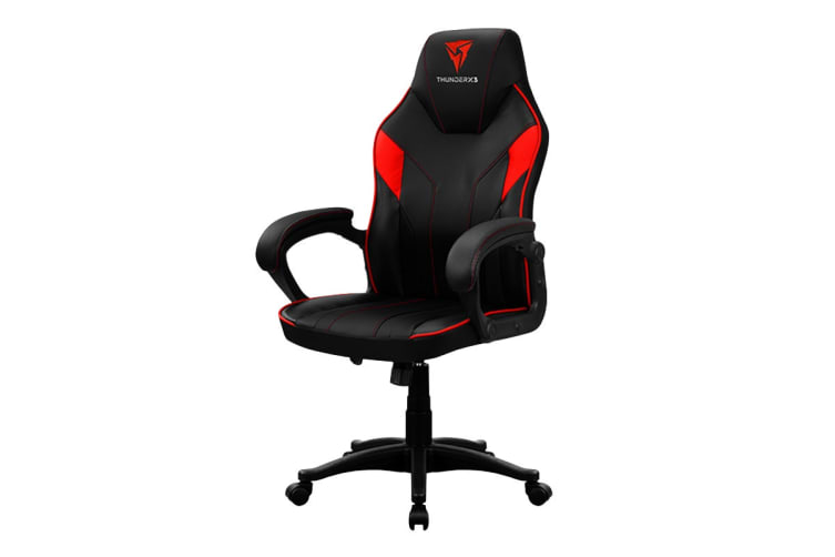 ThunderX3 EC1 Breathable Pinhole Surface Gaming/Office Chair - Black/Red