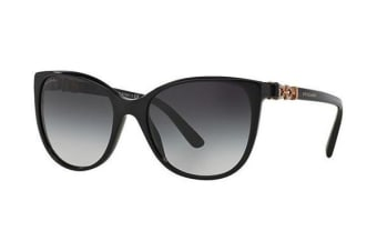 Bvlgari BV8145B - Black (Dark Grey Shaded lens) Womens Sunglasses