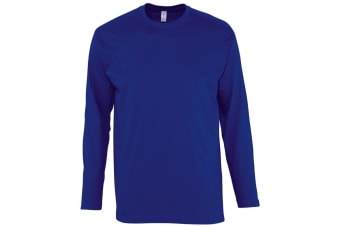 SOLS Mens Monarch Long Sleeve T-Shirt (Ultramarine) (4XL)