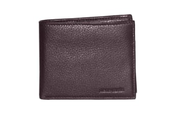 Pierre Cardin Mens Bi-fold Rfid Protected Wallet - Italian Leather - Brown