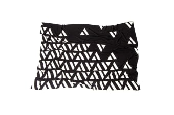 Ardour Wolf 125x150cm Pure Knitted Cotton Raven Throw/Blanket Home Decor Black