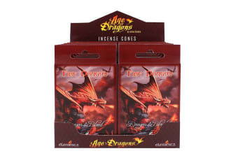 Age Of Dragons Fire Dragon Incense Cones (12 Packs Of 15) (Red)