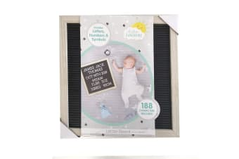 Hello Sunshine 30.5cm Baby Announcement DIY Letter/Display Board w/188 Character