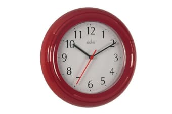 Acctim Wycombe Wall Clock (Red) (One Size)