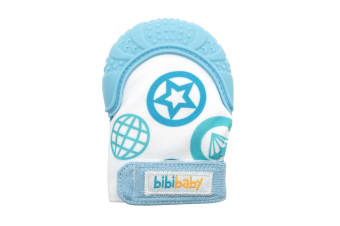 BibiBaby Bibimitt Teething Mitts Soothing Baby Mitten Glove Blue