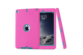 Heavy Duty Shockproof Case Cover For iPad Air 2/iPad 6-Hot Pink