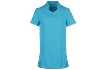 Premier Womens/Ladies *Orchid* Tunic / Health Beauty & Spa / Workwear (Pack of 2) (Turquoise) (24)
